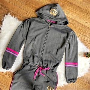 Juicy Couture gray track jumpsuit